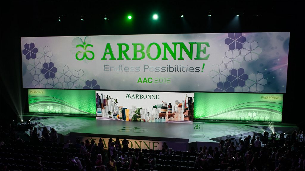 LED Screen for Arbonne Annual Conference & Expo 2016