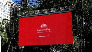 Led Screens for Australia Day 2015, Sydney Domain