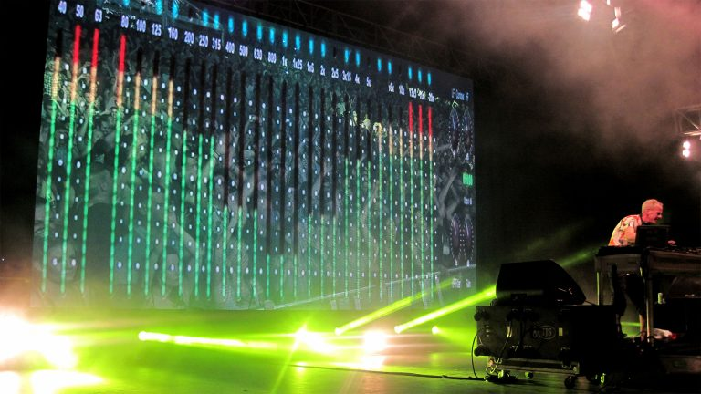 concert led screen for Fat Boy Slim, River Stage 2016
