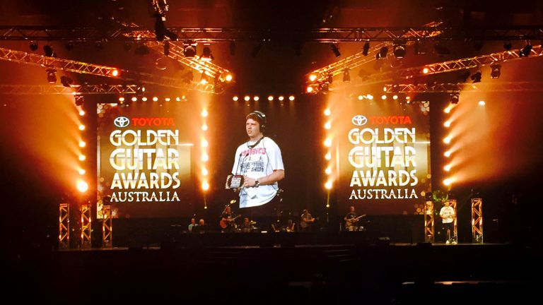Large led screen for the Golden Guitar Awards 2016