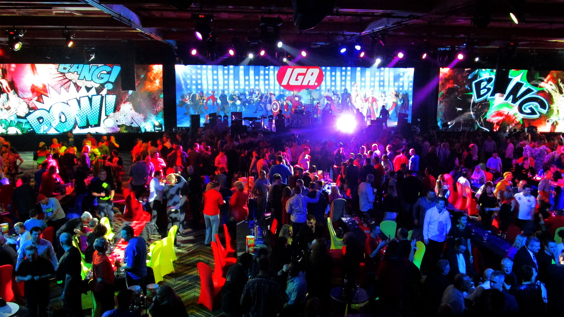 LED Screens for IGA Gala Dinner 2015