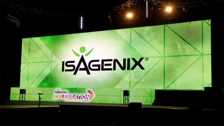 Big Screens display Isagenix Celebration 2016