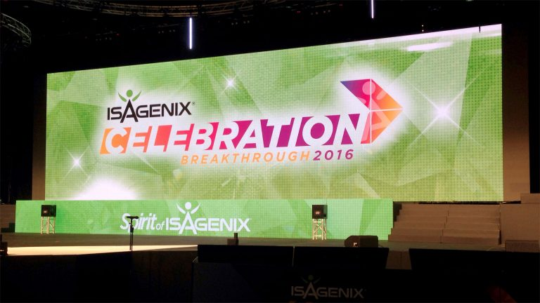 Large Screens display Isagenix Celebration 2016