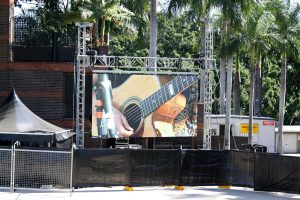 Led Screens for Jon Buttler Trio, Riverstage Brisbane