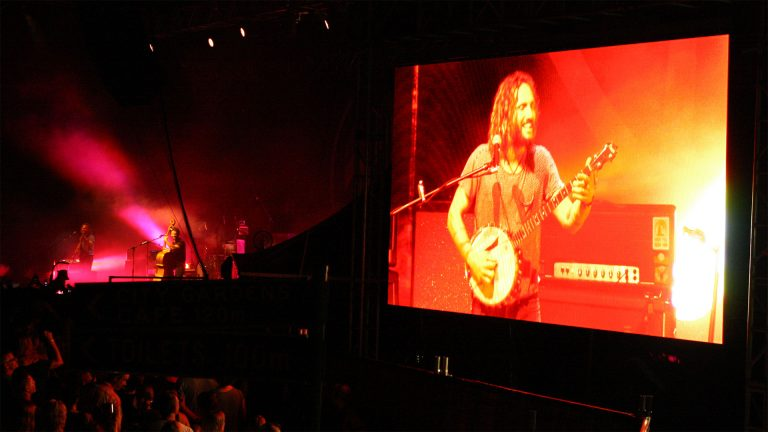 large led screen Buttler Trio, Riverstage Brisbane