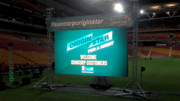 Outdoor LED Screens Suncorp Stadium Origin Stars Event