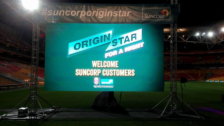 Outdoor LED Screen Display Suncorp Stadium Origin Stars Event