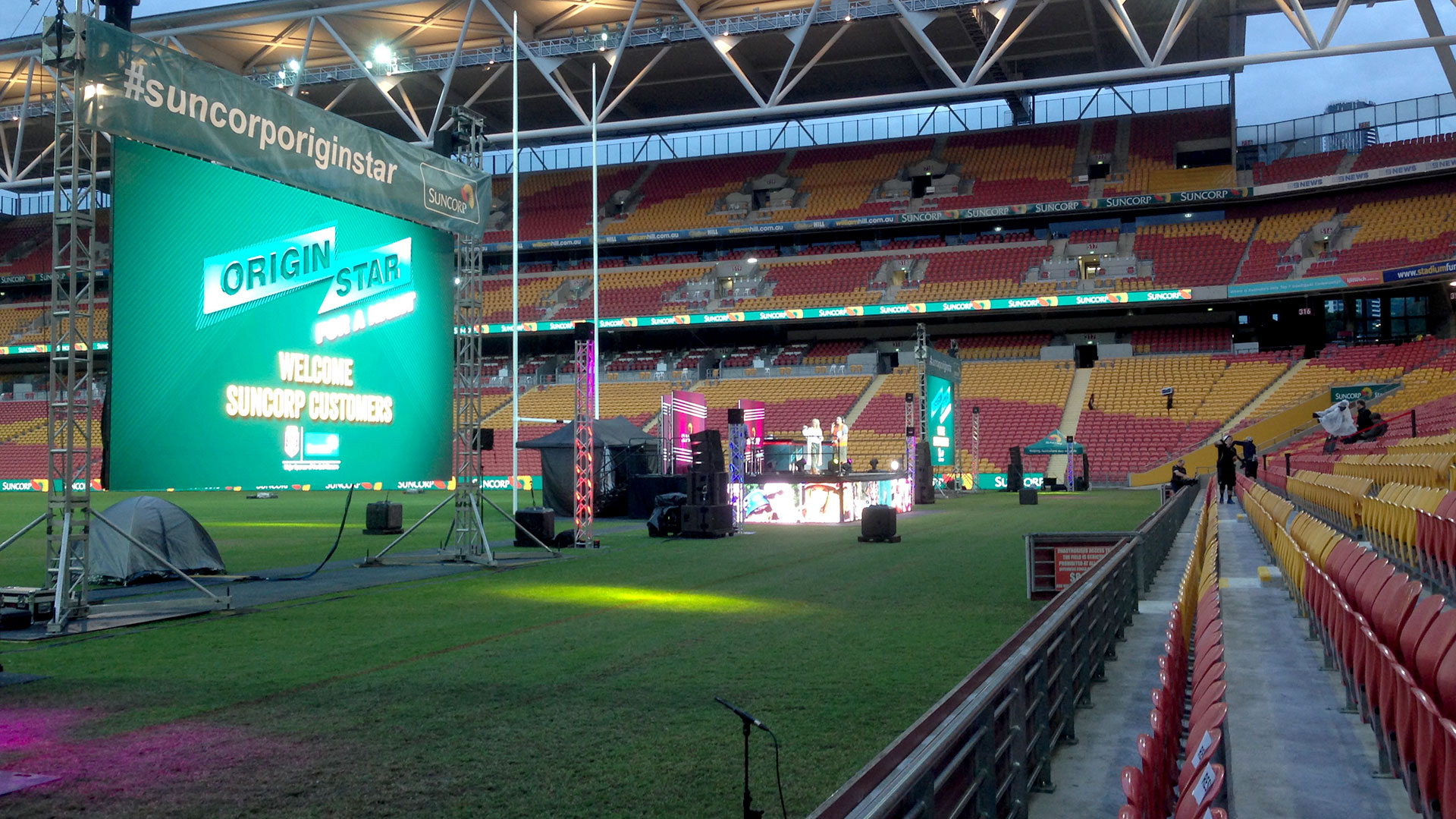 LED Screens for Suncorp Stadium Origin Stars Event