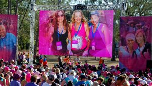 LED Screens for End Womens' Cancer Fun Run