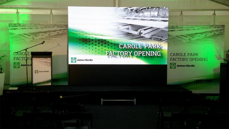 LED Screen for James Hardie, Carol Park
