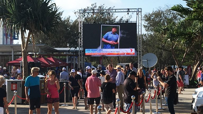 Led Screens for Magic Millions Barrier Draw, Gold Coast
