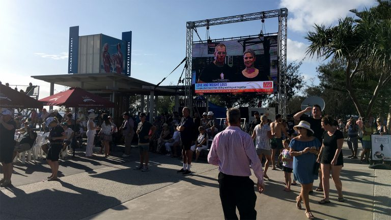 Outdoor Led screens Magic Millions Barrier Draw