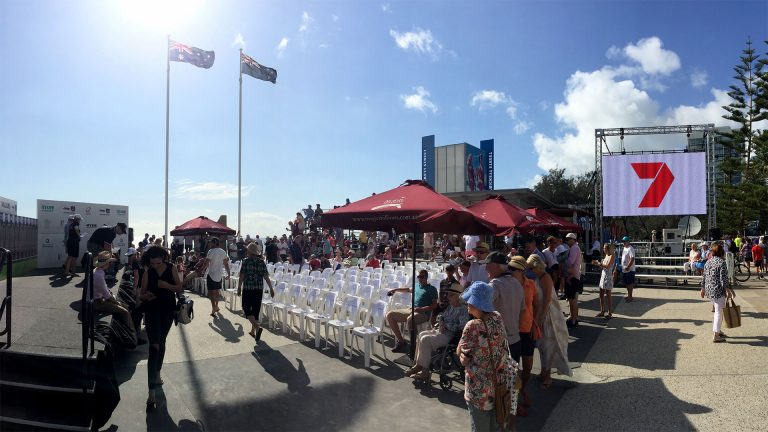LED Screens for Magic Millions Barrier Draw