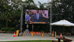 Led Screens Display Melbourne Cup and Jupiters Casino