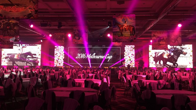 Led Screens for Melbourne Cup, Jupiters Casino Gold Coast