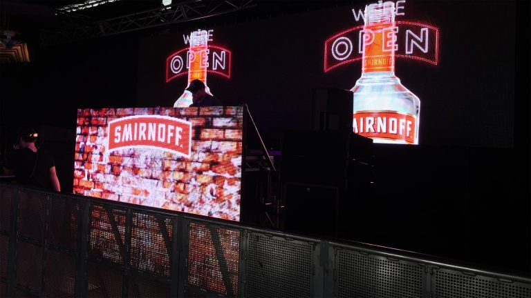 Led Screens for Smirnoff Vodka Tent - concert