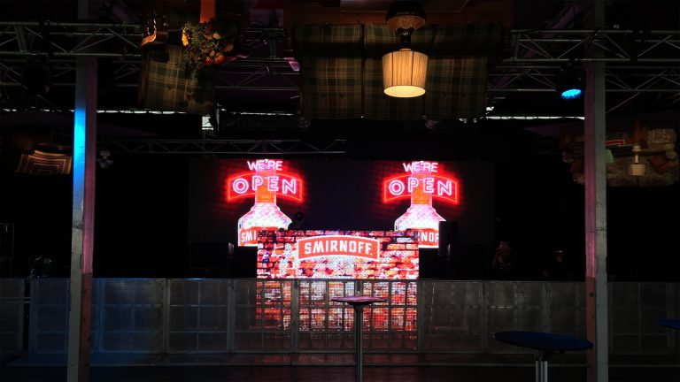 Led Screens for Smirnoff Vodka Tent, Splendour in The Grass Byron Bay