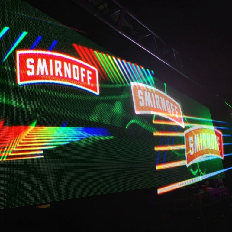 Indoor led Display Smirnoff Vodka Tent concert