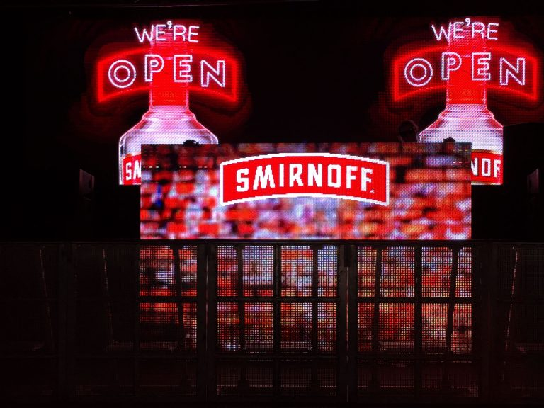 led Display Advertisment Smirnoff Vodka Tent concert