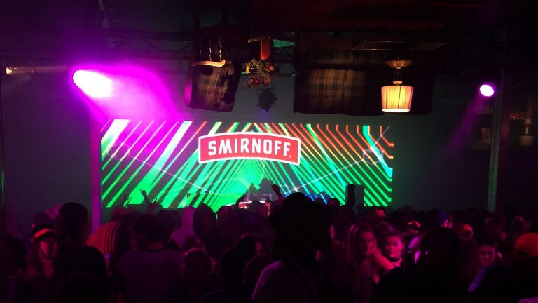 Indoor Concert Display Smirnoff Vodka Tent concert