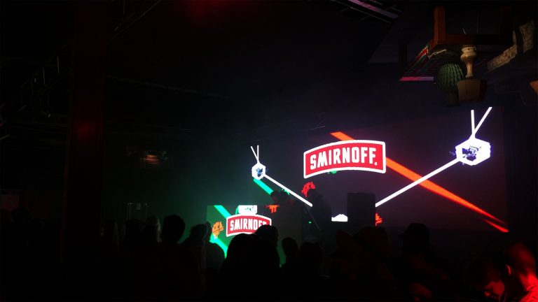 Stage Concert led Display Smirnoff Vodka Tent concert