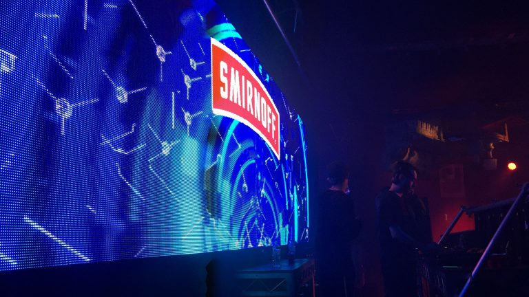Big Led Screen Smirnoff Vodka Tent concert