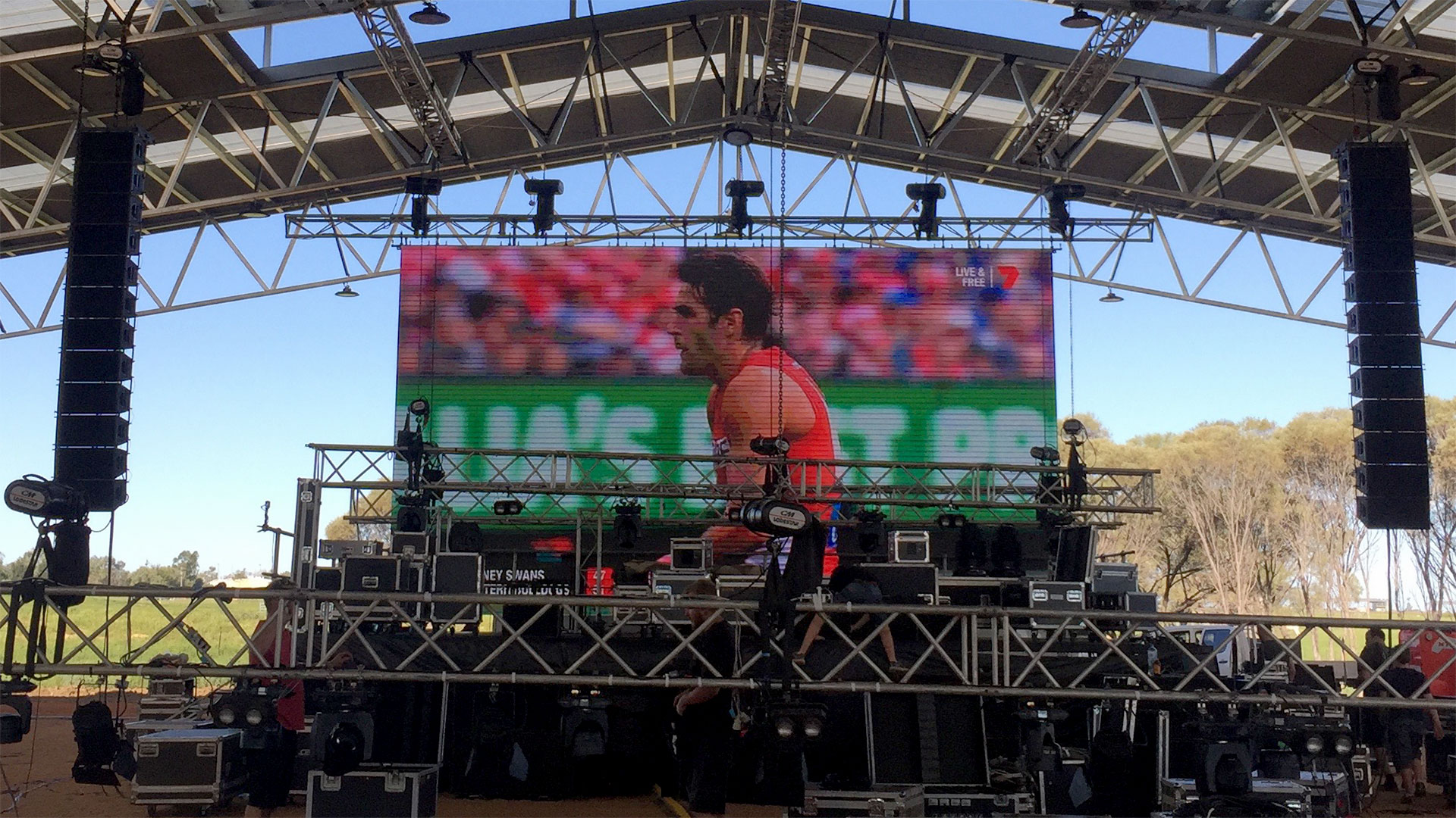 Led Screen for AFL Grand Final, Stockmans Hall of Fame