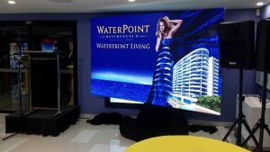 LED Screens for Waterpoint Apartment Launch